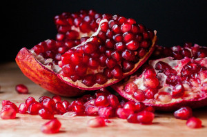 Pomegranate arils.