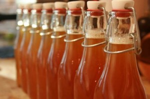 Homemade, bottled kombucha. Source: arealfoodlover.wordpress.com