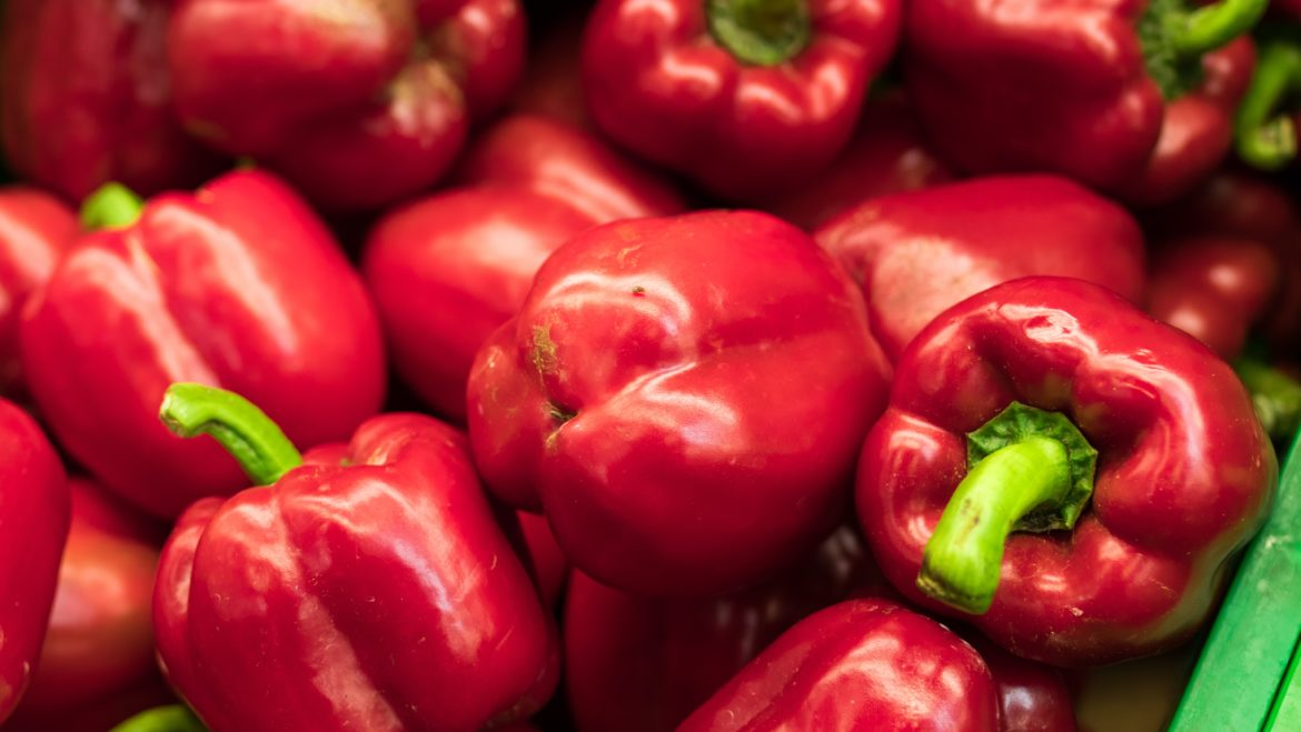Red bell peppers.